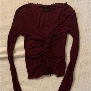 Anthropologie long sleeve top size small